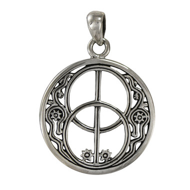 Sterling Silver Chalice Well Avalon Pendant