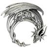 Sterling Silver Crescent Moon Dragon Pendant