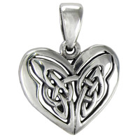 Celtic Sterling Silver Love Knot Heart Pendant Jewelry