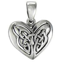 Celtic Sterling Silver Love Knot Heart Pendant Jewelry