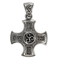 Sterling Silver Celtic Knot Cross of Harmony Pendant