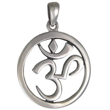 Sterling Silver Aum Symbol Pendant