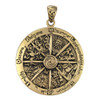 Bronze Large Wheel of the Year Pendant