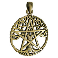 Wiccan pentacle jewelry and pentagram necklaces for men or women bronze tree pentacle pentagram pendant aloadofball Gallery