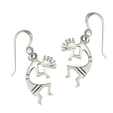 Sterling Silver Kokopelli Symbol Earrings Southwestern Jewelry