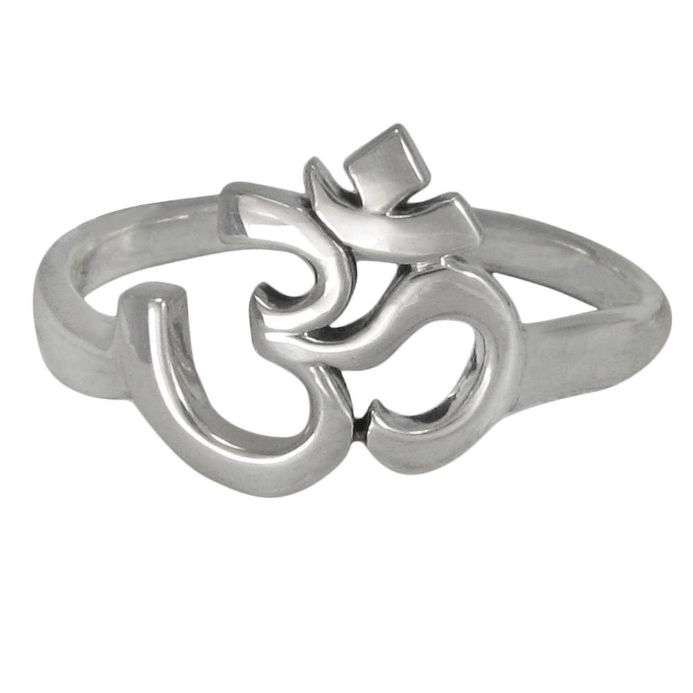 Sterling Silver Aum Om Symbol Ring - Moonlight Mysteries