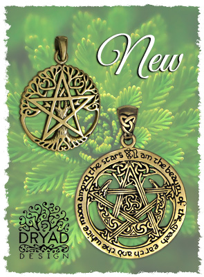 Bronze Wiccan Pentacle Jewelry on Sale
