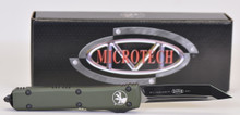 "Microtech Ultratech T/E OTF Automatic Knife OD Green Handle, 3.4"" Black Blade"