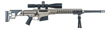 "Barrett Firearms MRAD 24"" Flat Dark Earth 338 Lapua Magnum."