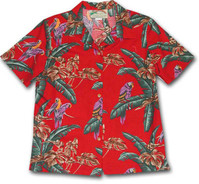 Jungle Bird Womens Hawaiian Camp Shirt