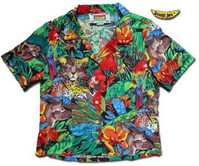 Jaguar Jungle Women's Hawaiian Camp Shirt