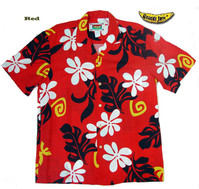 Red Tahiti Men's Hawaiian Shirt
