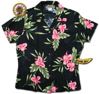 Manoa Valley Womens Fitted Hawaiian Shirt