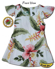 Girls Hana Heliconia Hawaiian Tie Back Dress