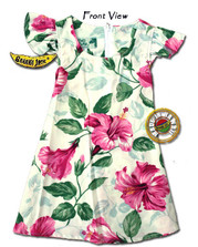 Girls Royal Hawaiian Hibiscus Tie Back Dress