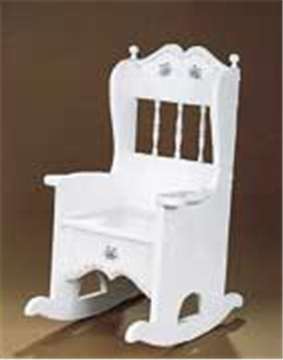 Rocker Potty Chair Ready to Assemble Kit, this is a photo of the Rocker Potty Chair fully finished and ready to be used.