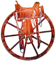 Saddle & Wagon Wheel