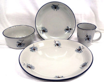 Pine Cone Dinnerware Set/16 Cabin Collection