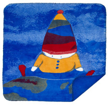 """Boy On Top of The World"" Microplush Mini Throw 30"" x 36"""