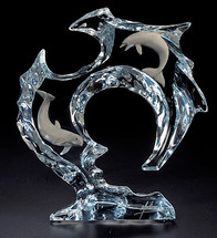 """Flow"" Dolphin Sculpture by Starlite Originals"
