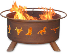 "Patina ""Western Cowboy"" Fire Pit"