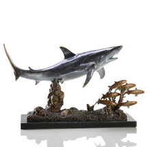 Shark w/Prey San Pacific Nautical Gallery Sculpture