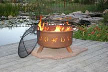 "Patina ""Horseshoes"" Outdoor Fire Pit"
