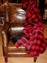 Large Bunk House Plaid Throw