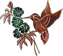 Hummingbird Scene Metal Wall Art
