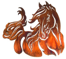 "Windy 21"" Horse Metal Wall Art by Lazart"