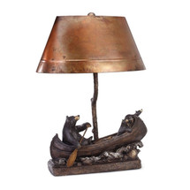 """Canoe Trip"" Copper Lamp by Jeff Flemming"
