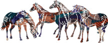 """Painted Ponies"" Metal Wall Art"