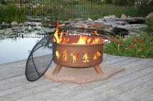 """Patina """"Kokopelli"""" Outdoor Fire Pit"""
