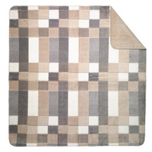 Gray Plaid  Microsoft Throw