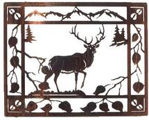 """""""Aspen Retreat"""" Elk Metal Wall Art by Lazart"""