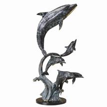 Majestic Dolphin Quintet Sculpture