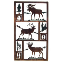 "Moose, Elk & Deer: Lazart ""Northwest Trio"" Wall Art"