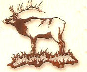 Bull Elk Metal Wall Art