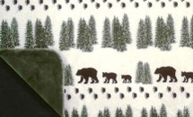 """Pearl Denali Bear"" Microplush Throw 50"" x 60"""