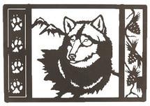 """Wolf Tracks"" Metal Wall Art"