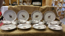 Classic Rustic Brown speckled Big Game Dinnerware Set/20