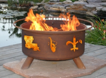 "Patina ""Mardi Gras"" Portable Outdoor Fire Pit"