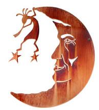 Kokopelli In The Moon Metal Wall Art