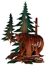 3D Good Fishin' Bear Metal Wall Art