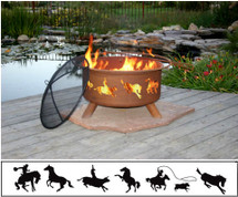 "Patina ""Western"" Outdoor Fire Pit"