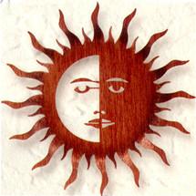 Bent Sun Moon Metal Wall Art