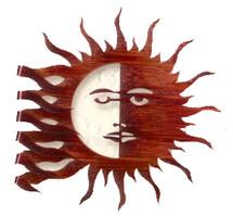 Wrapped Sun Moon Metal Wall Art