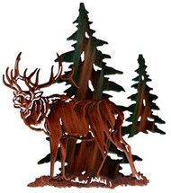3D Elk Metal Wall Art
