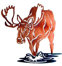 "Moose Sculptures:  ""Bull of Rights"" Metal Wall Art"