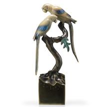 Parrots On Base  Sculpture